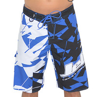 Shattered Men's Board Shorts Blue (Size 28, 36 Only) PWC Jetski Apparel (Clearance)