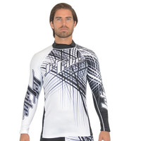 Rashguard Spike - White/Black PWC Jetski Ride & Race Apparel
