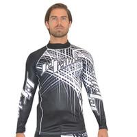 Rashguard Spike -Black/White PWC Jetski Ride & Race Apparel