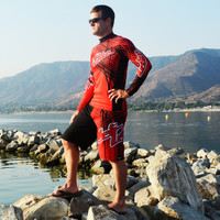 Rashguard Spike -Red PWC Jetski Ride & Race Apparel