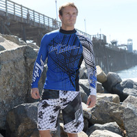 Rashguard Spike -Blue PWC Jetski Ride & Race Apparel