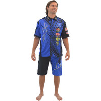 Men's Pit Shirt Spike Blue PWC Jetski Ride & Race Jet Ski Apparel