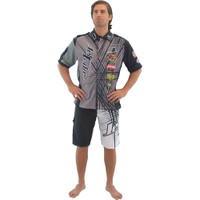 Men's Pit Shirt Spike Grey PWC Jetski Ride & Race Jet Ski Apparel