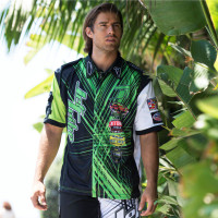 Men's Pit Shirt Spike Green PWC Jetski Ride & Race Jet Ski Apparel