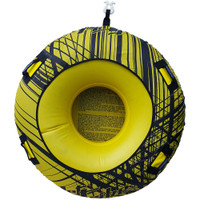 Donut Towable One Person Inflatable Tube PWC Jetski Ride & Race-Yellow
