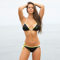 Mission Bay Triangle Bikini 2pc Set - Neon Yellow/Green PWC Jetski Swimwear