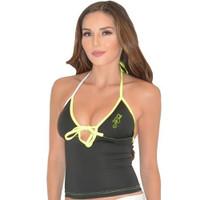 Mission Bay Tankini Top - Neon Yellow/Green PWC Jetski Ride & Race Swimwear
