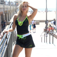 Mission Bay Swim Skirt - Neon Yellow/Green PWC Jetski Swimwear