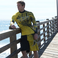 Rashguard Spike - Yellow PWC Jetski Ride & Race Apparel