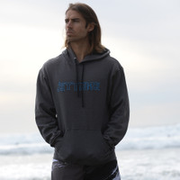 Men's Wire Hoodie - Grey PWC Jetski Ride & Race Apparel