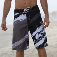 Scratch Men's Board Shorts Grey/Black PWC Jetski Ride & Race