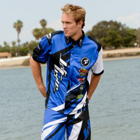 Sharpened Pit Shirt - Blue PWC Jetski Ride & Race Jet Ski Apparel