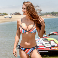 Havasu Stripe Thong Bikini 2pc Set - PWC Jetski Swimwear