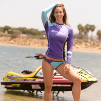 Ladies Cut Rashguard Newport - Purple PWC Jetski Ride & Race Apparel