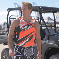 USCG-P Sharpened Neon Orange Side-Entry Vest PWC Jetski Race