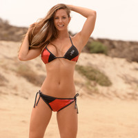 Metallic Red Triangle Bikini 2pc Set - PWC Jetski Swimwear