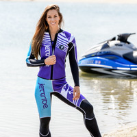 Newport Ladies Wetsuit - Purple PWC Jet Ski Ride & Race