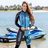 Newport Ladies Wetsuit - Teal PWC Jet Ski Ride & Race