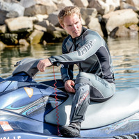 Sharpened Grey Wetsuit - PWC Jet Ski Ride & Race Freestyle