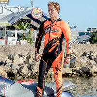 Sharpened Neon Orange Wetsuit - PWC Jet Ski Ride & Race