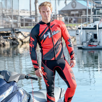 Sharpened Red Wetsuit - PWC Jet Ski Ride & Race Freestyle