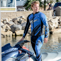 Sharpened Blue Wetsuit - PWC Jet Ski Ride & Race Freestyle