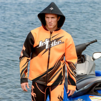 Sharpened Tour Coat - Neon Orange PWC Jetski Ride & Race Gear