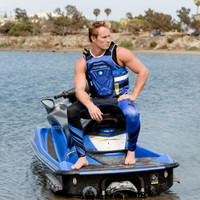 RS-18P Side Entry Impact Vest - Blue PWC Jetski Ride Jacket