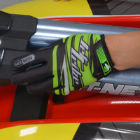 Race Skin PWC Gloves - Green Jetski Ride & Race Gear