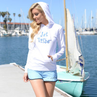 Sparkle Ladies Hoodie - White PWC Jetski Ride & Race Apparel