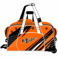 Day 10 Rolling Gear Bag Sharpened - Neon Orange PWC Jetski Race Gear