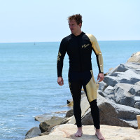 24K Gold / Black Wetsuit - PWC Jet Ski Ride & Race Freestyle