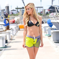 Hyper Ladies Shorts - Green PWC Jetski Ride & Race Apparel