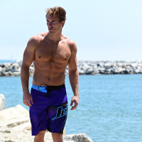 Hyper Men's Board Shorts - Purple / Teal PWC Jetski Ride & Race Apparel