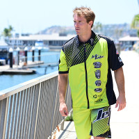 Hyper Pit Shirt - Green PWC Jetski Ride & Race Apparel
