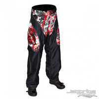 Moto Pants in Skull Print