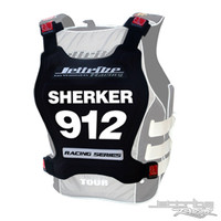 Racing Number Plate - Black PWC Jetski Ride & Race Accessories