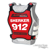 Racing Number Plate - Red PWC Jetski Ride & Race Accessories