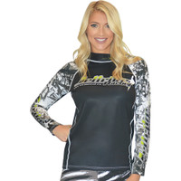 Longsleeve Rashguard Green / Black PWC Jetski Ride & Race Apparel