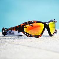 Pro Goggles Tortoise Fade Frame/Revo Lens PWC Jetski Racer