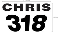 Custom Name/Number *Only* for Race Plate #13432 PWC Jetski