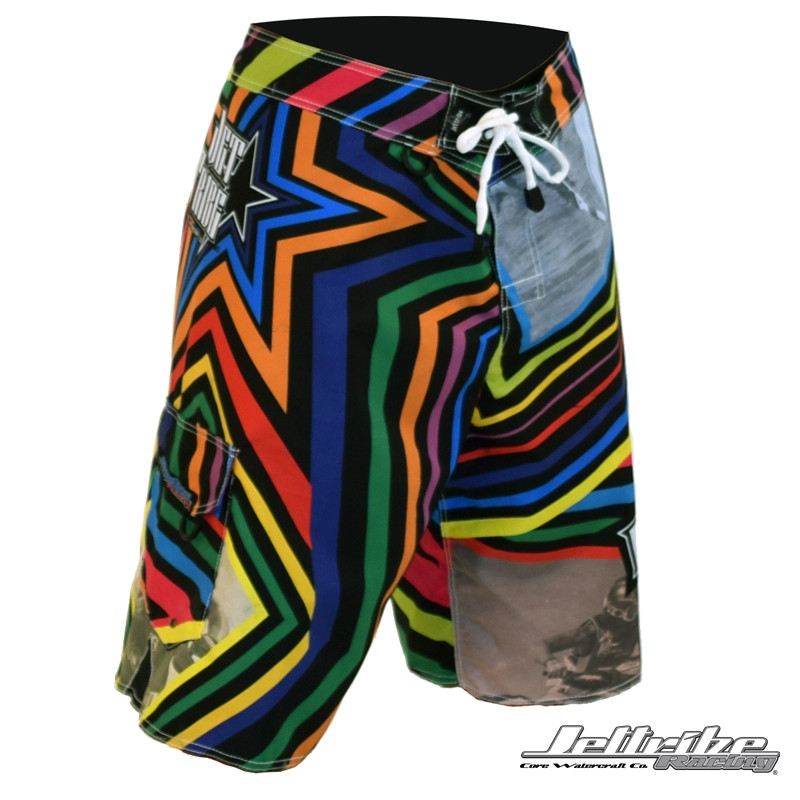 Men's Shockwave Multi-Colored Board Shorts (Front-Right)