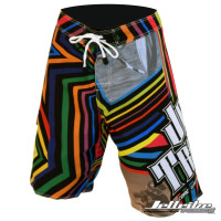 Men's Shockwave Multi-Colored Board Shorts (Front)