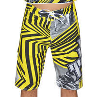 Shockwave Board Shorts Yellow PWC Jetski Ride & Race Apparel