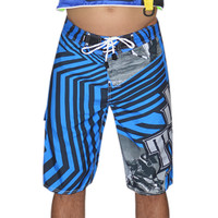Shockwave Board Shorts Blue PWC Jetski Ride & Race Apparel