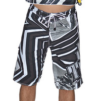 Shockwave Board Shorts White PWC Jetski Ride & Race Apparel