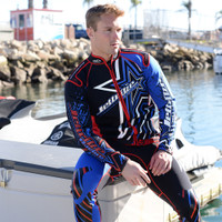 Shockwave Red / Blue Wetsuit PWC Jet Ski Ride & Race Freerider