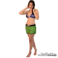 Model Wearing Hash Shorts, Bathing Suit Top Not Included- Front View