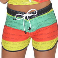 Rasta Ladies Board Shorts PWC Jetski Ride & Race Apparel