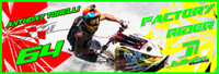 Anthony Torelli Banner 3'x9' PWC Jetski Ride & Race Jet Ski Display
